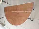 半月の合板の折りたたみ式テーブル