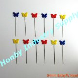 Tamaño estándar al por mayor de 50mm Surtido decorativo dulce flor Pin de la cabeza