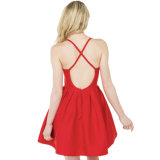 Madame rouge chaude Dress de robe de robe sexy Backless de femme