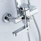 Douche de grand dos de pluie de toilettes réglée avec le tube d'acier inoxydable