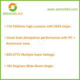 높은 루멘 T8 관 알루미늄 PC LED 램프