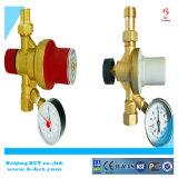 Valvola di rifornimento d'ottone con il calibro 2-4bar, regolatore del gas, valvola d'ottone BCTFV02 del corpo