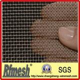 Treillis métallique décoratif carré serti par replis d'acier inoxydable (maille 2-635)