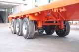 (Made in China) 40FT 3axles de superficie plana del semi-remolque