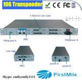 plataforma ótica do transporte de 10g 3r com o plugue quente do cartão de DWDM CWDM EDFA Olps Mrlc