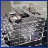 Organisateur cosmétique acrylique clair fait sur commande de qualité