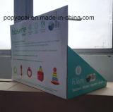 Индикация встречной верхней части картона, подгонянная стойка индикации, индикация коробки шипучки