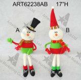 Decoración Ornaments-2asst del árbol de navidad del muñeco de nieve de Santa