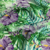 Polyester-Stretchable Satin-Chiffon- Blume gedrucktes Kleid-Gewebe