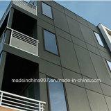 Tarjeta coloreada cemento del balcón de la fibra