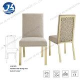 Jantando a cadeira com coxim esponjoso e frame de aço inoxidável