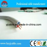 Câble de terre plat solide nu de la gaine 2*4+E de PVC d'isolation de PVC d'en cuivre
