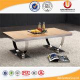 Mobilia di marmo del salone delle Tabelle pranzanti dell'acciaio inossidabile di modo (UL-DC555)