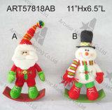 """산타클로스 눈사람 크리스마스 훈장 선물 2asst를 서 있는 10 """" H"""