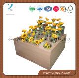 Estante de madera de la flor con 16 orificios para los departamentos