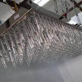 De Hangende Kroonluchter van uitstekende kwaliteit van het Kristal van de Luxe van de Lamp van het Project Rechthoekige Duidelijke
