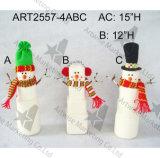 """"""" decoración del muñeco de nieve de la Navidad de la carrocería de la bola del hilado de H 18"""