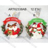 """12.5 """" семей Wreath-2asst украшения рождества Dia"""