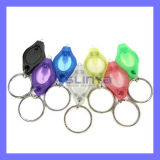Più piccola mini torcia elettrica chiara di tasto LED Keychain dell'automobile di punto culminante UV viola bianco