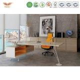 Escritorio de oficina de la melamina de los muebles de oficinas de la manera con L vector certificado Fsc de la oficina de la vuelta de la dimensión de una variable (MAKER-MD18)