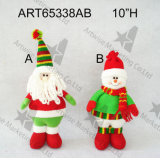 """6.5 """"文字4asst Christmas DecorationとのH Plait Stocking"""