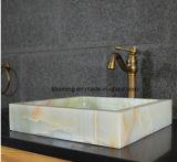 Lavabo de colada gris de la piedra del jade del cuarto de baño