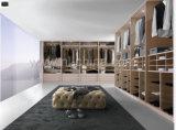 Caminhada de madeira moderna da mobília do quarto no armário