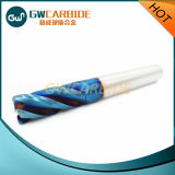 Molino de extremo sólido Naco-Azul del carburo de 4 flautas