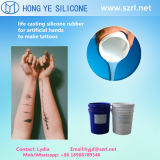 Tattoos снимают кожу с безопасных силиконов отливки резины/жизни кремния RTV
