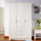 Guardaroba di legno della camera da letto della vernice bianca europea di stile (GSP9-023)
