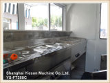 Ys-FT280c Popular Strong Steel Mold Mobile Kitchen Fast Food Trailer