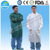 Laboratório-Vestido descartável dos PP, revestimento de papel descartável do laboratório