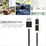 2 in 1 Charging und Synchronisierung USB Cable Nylon Insulated