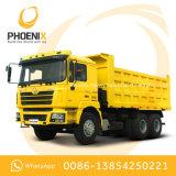 Tipper usado do caminhão de descarga das rodas de Shacman 10 com a cabine do homem para África