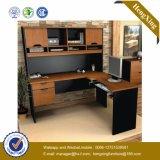 Moderner Tisch L Form-leitende Stellung-Glasschreibtisch (HX-FCD079)