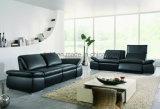 Sofà moderno del cuoio della casa del blocco per grafici di legno del sofà del salone (UL-NS012)