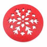 De Onderlegger voor glazen van de Polyester van 100% voor Koppen & de Decoratie van Kerstmis