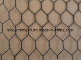 金網の網および電流を通された六角形の鉄ワイヤー網