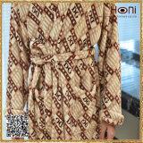 中国Supllierの人の浴衣、綿のベロアの浴衣、100%年の綿