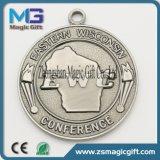 金属のねじ穴が付いている堅いエナメルの記念品の金属メダル車のバッジ