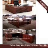(HX-5D118) Muebles de oficinas de la melamina moderna del escritorio de oficina de ejecutivo de la nuez negra