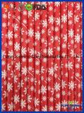 Eco freundlich, rote Farbe mit Schnee-Fall-Papier-Stroh