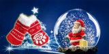 Anti Skid Paws Printing Snow Christmas Chaussettes et chaussures pour animaux de compagnie