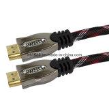 Das überzogene Xerxes 24k Gold unterstützt Ethernet 3D 1.4 2.0 4k HDMI Kabel