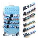 Da correia de nylon da segurança da bagagem da cinta da bagagem do curso cinta de nylon ajustável com curvatura