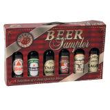 상자를 포장하는 6개의 맥주 병