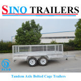 12X6 Heavy Duty Box Tandem Axle Utility Trailer