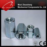 DIN6334 탄소 강철 아연에 의하여 도금되는 육 연결 견과
