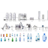 Terminar la máquina de rellenar del agua pura, línea de la fabricación