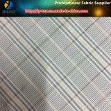 Tissu à carreaux teintés au fil de polyester pour la veste